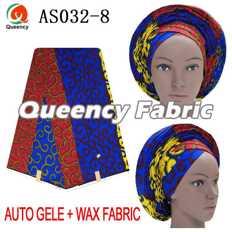 Ladies Auto Gele Match Wax Material