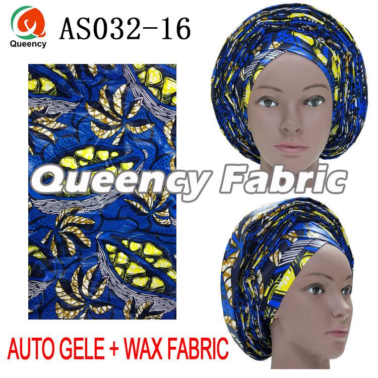 African Wax Fabric Match Auto Gele