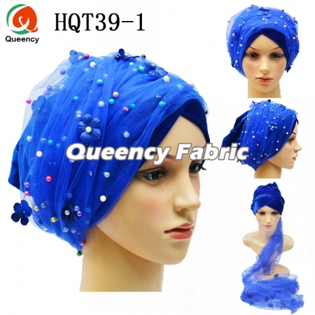 African Muslim Turban Beaded Head Wrap